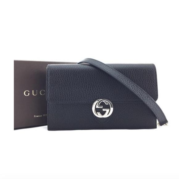 5fbd2063d152 Gucci Bags | Icon Wallet Long Chain Black Cross Body Bag | Poshmark